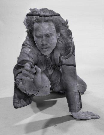 Человек- статуя