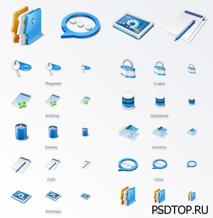 Стандартный набор иконок