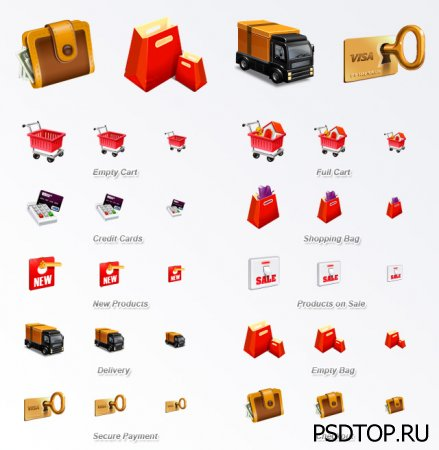 Набор иконок электронная коммерция