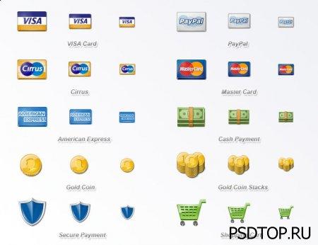 Набор иконок платежных систем