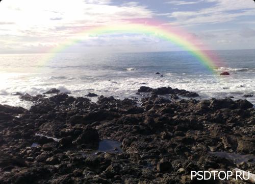 Рисуем радугу в фотошоп